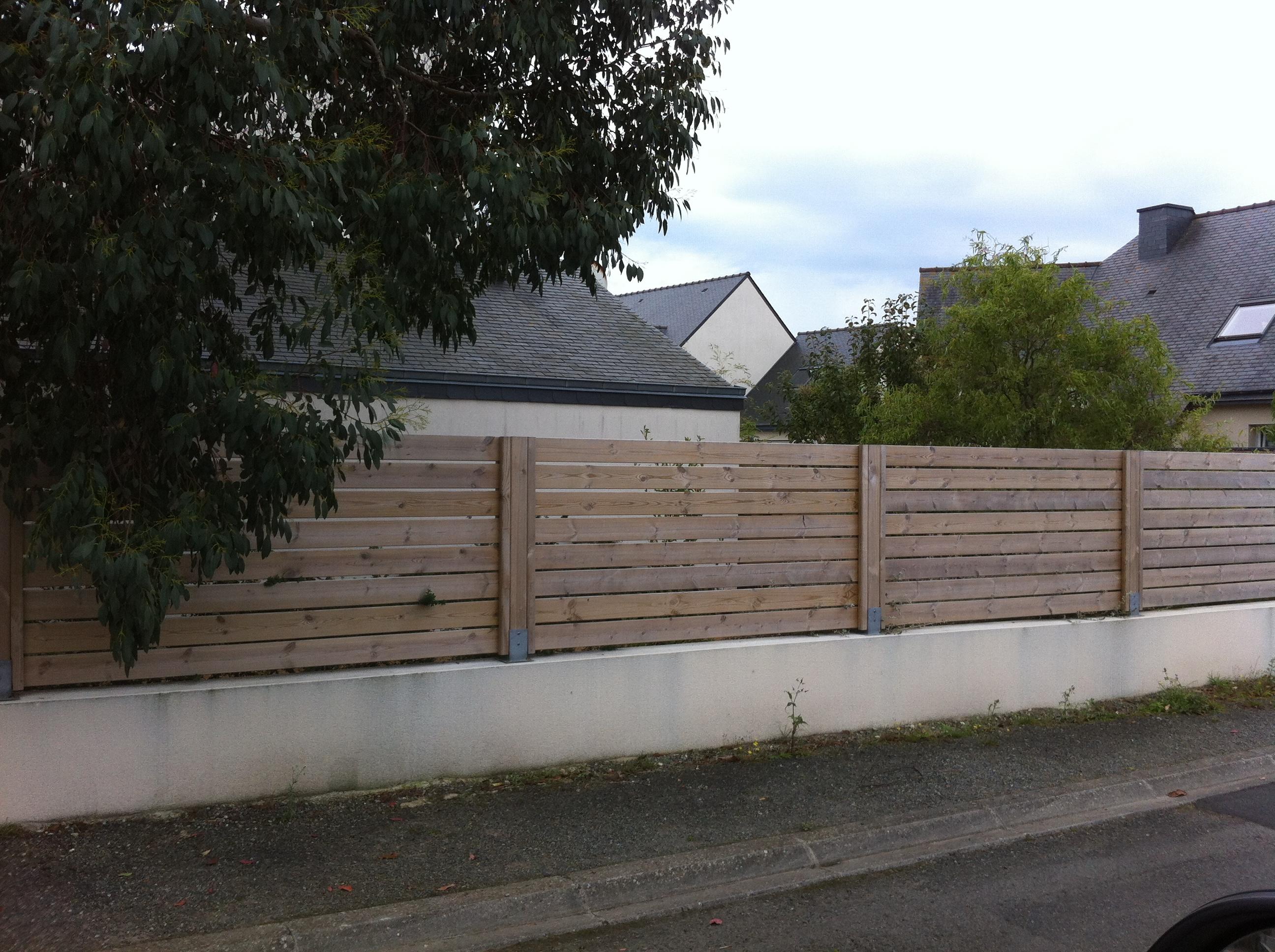 Pose De Cloture Ille Et Vilaine palissades et clôtures - menuiserie paysagère cotes d'armor